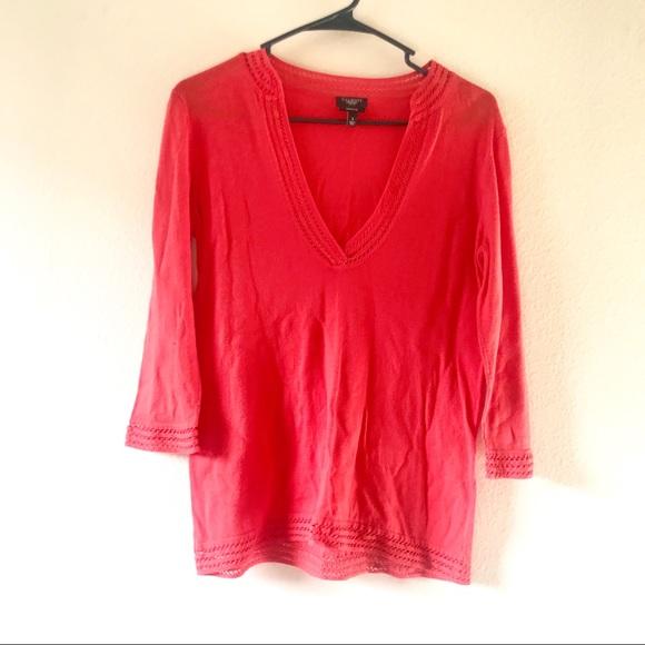 Talbots Sweaters - 4/$25 Talbots Pima Cotton Orange V-Neck Sweater